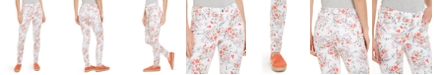 Charter Club Petite Floral Printed Bristol Skinny Ankle Jeans, Created For Macy's