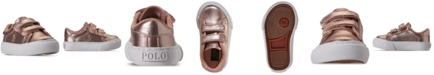 Polo Ralph Lauren Toddler Girls Easten EZ Stay-Put Closure Casual Sneakers from Finish Line