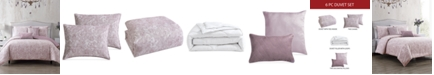 Hallmart Collectibles CLOSEOUT! Parfait 6-Pc. Queen Duvet Cover with Filler Set