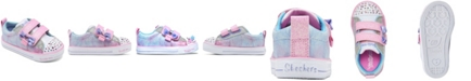 Skechers Toddler Girl's Twinkle Toes Shuffle Lites - Sweet Supply Stay-Put Closure Casual Sneakers from Finish Line