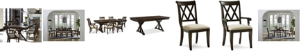 Furniture Baker Street Dining Furniture, 7-Pc. Set (Dining Trestle Table, 4 Side Chairs & 2 Arm Chairs)