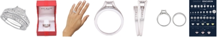 Macy's Diamond Cluster Channel-Set Bridal Set (1 ct. t.w.) in 14k White or Yellow Gold