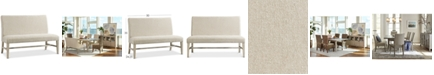 Furniture Parker Upholstered Dining Bench, Created for Macy's