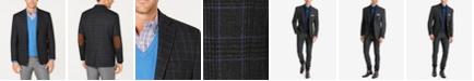 Lauren Ralph Lauren Men's UltraFlex Classic-Fit Stretch Charcoal/Blue Plaid Wool Sport Coat