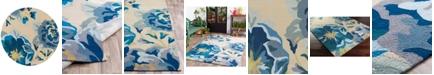 Surya Rain RAI-1231 Bright Blue 8' Round Area Rug, Indoor/Outdoor