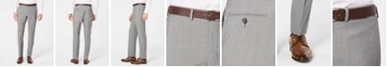 DKNY Men's Modern-Fit Stretch Light Gray Suit Pants