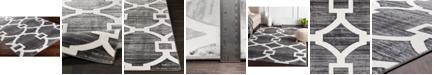 "Abbie & Allie Rugs Rabat RBT-2306 Medium Gray 18"" Area Rug Swatch"