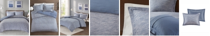JLA Home Urban Habitat Space Dyed Full/Queen 3 Piece Melange Cotton Jersey Knit Comforter Set
