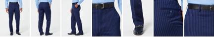 Sean John Men's Classic-Fit Stretch Blue/Pink Pinstripe Suit Pants