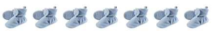 Hudson Baby Velour Scooties with Non Skid Bottom, 0 Months-4T