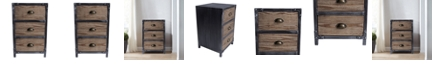 Furniture Nyx 3 Drawer End Table, Quick Ship