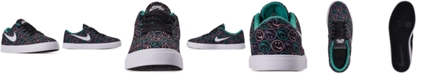 Nike Boys' SB Check Canvas Skateboarding Sneakers from Finish Line