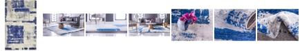 Bridgeport Home Wisdom Wis4 Navy Blue 5' x 8' Area Rug