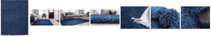 Bridgeport Home Exact Shag Exs1 Navy Blue 9' x 12' Area Rug
