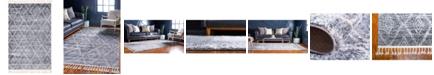 "Bridgeport Home Levia Lev2 Gray 5' 2"" x 8' Area Rug"