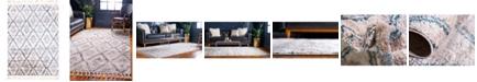 "Bridgeport Home Levia Lev2 Beige/Blue 4' 5"" x 6' 3"" Area Rug"
