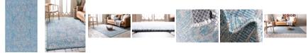 Bridgeport Home Pashio Pas8 Light Aqua 5' x 8' Area Rug