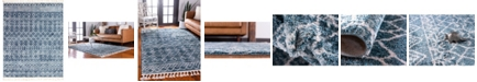 "Bridgeport Home Levia Lev1 Dark Blue 9' 3"" x 12' Area Rug"
