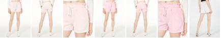 Waisted Paperbag-Waist Track Shorts