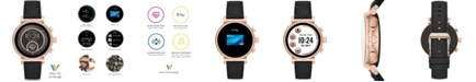 Michael Kors Access Women's Sofie Heart Rate  Embossed Black Silicone Strap Touchscreen Smart Watch 41mm, Powered by Wear OS by Google™