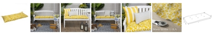 EF Home Decor EF Home Decor Indoor/Outdoor Reversible Tufted Loveseat/Bench Cushion With Ties, Inbox