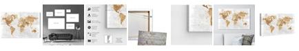 "Oliver Gal Mapamundi on the Rocks Canvas Art, 45"" x 30"""