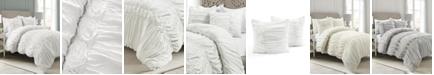 Lush Decor Darla Ruched 3-Piece King Comforter Set