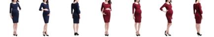 kimi + kai Penelope Maternity Midi Dress