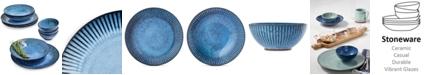 Lucky Brand Denim Narrow-Fluted 12-Pc. Dinnerware Set, Service for 4