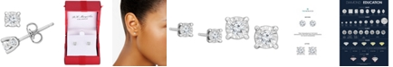 TruMiracle Diamond Stud Earrings (3/8 ct. t.w.) in 14k White, Yellow, or Rose Gold