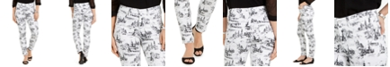 Charter Club Petite Toile-Print Jeans, Created for Macy's