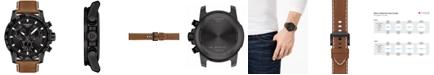 Tissot Men's Swiss Chronograph Supersport T-Sport Brown Leather Strap Watch 46mm
