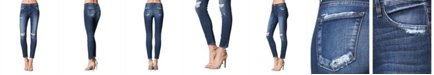 FLYING MONKEY Mid Rise Distressed Skinny Ankle Jeans