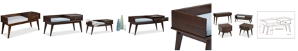 Simpli Home CLOSEOUT! Kentler Mid Century Entryway Storage Bench