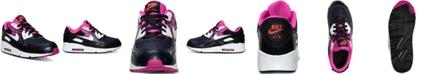 Nike Little Girls' Air Max 90 Premium Mesh Running Sneakers from Finish Line