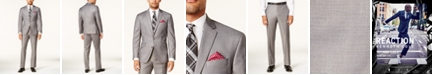 Kenneth Cole Reaction Men's Techni-Cole Basketweave Slim-Fit Big and Tall Suit