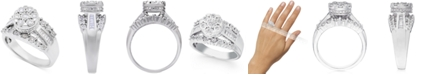 Promised Love Diamond Dome Cluster Promise Ring (1/2 ct. t.w.) in Sterling Silver