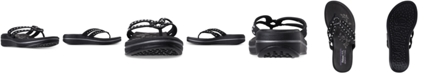 Skechers Women's Relaxed Fit: Upgrades - Be Jeweled Flip-Flop Thong Sandals from Finish Line