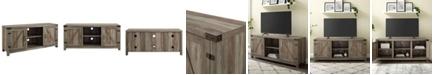 "Walker Edison 58"" Farmhouse TV Stand with Barn Door Side Doors - Grey Wash"