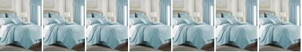 Colcha Linens Cambric Aqua Duvet Cover-Queen