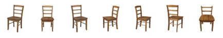 International Concepts Madrid Ladderback Chair, Set of 2