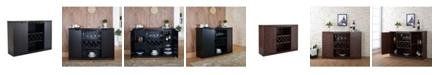Furniture of America Bruno Contemporary Wine Rack Buffet
