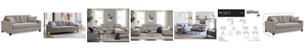 "Furniture Clarke II 75"" Fabric Apartment  Sofa, Created for Macy's"