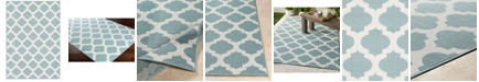 "Surya Alfresco ALF-9664 Aqua 5'3"" x 7'6"" Area Rug, Indoor/Outdoor"