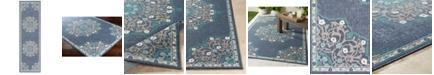 """Surya Alfresco ALF-9678 Charcoal 2'3"""" x 7'9"""" Runner Area Rug, Indoor/Outdoor"""
