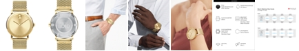 Movado Men's Swiss BOLD Gold-Tone Stainless Steel Mesh Bracelet Watch 40mm