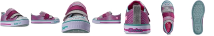Skechers Little Girls' Twinkle Toes: Twinkle Lite - Shiny Smilez Casual Sneakers from Finish Line