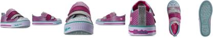 Skechers Little Girls' Twinkle Toes: Twinkle Lite - Shiny Smilez Casual Sneakers from Finish Line