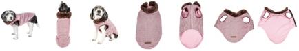 Pet Life Central Pet Life Luxe 'Beautifur' Elegant Boxed Faux Fur Dog Coat Jacket