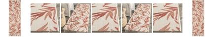 "Safavieh Courtyard Beige and Terracotta 2'3"" x 6'7"" Sisal Weave Runner Area Rug"